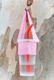 然后使用的塑料杯子 库存图片