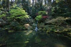 仍然庭院池塘 库存图片