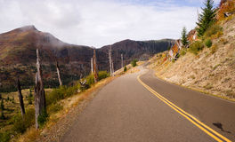 仍然损坏的风景疾风区域Mt圣Helens火山 免版税图库摄影