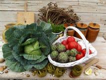 仍然生活意大利面食蔬菜 库存图片