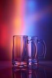 仍然1寿命 玻璃葡萄酒杯啤酒 免版税库存照片