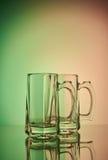 仍然1寿命 玻璃葡萄酒杯啤酒 免版税库存图片