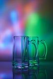 仍然1寿命 玻璃葡萄酒杯啤酒 库存照片