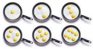 煎的挑选鸡蛋 免版税图库摄影
