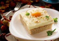 煎的蛋糕鸡蛋 免版税库存图片