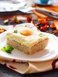 煎的蛋糕鸡蛋 图库摄影