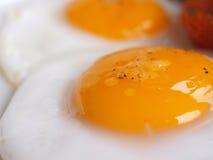 煎的详细资料鸡蛋 免版税图库摄影