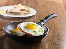 煎的鸡蛋 图库摄影