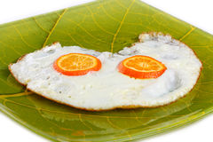 煎的鸡蛋 免版税图库摄影