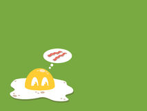 煎的鸡蛋 免版税库存图片