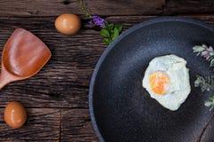 煎的鸡蛋 免版税库存照片