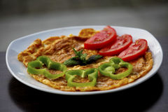 煎蛋卷早餐 图库摄影