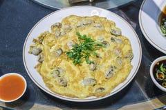 煎蛋卷牡蛎 免版税图库摄影