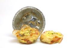 煎蛋卷用烟肉和菜 免版税库存图片