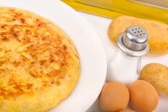 煎蛋卷西班牙语 免版税库存图片
