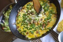 煎蛋卷 库存图片