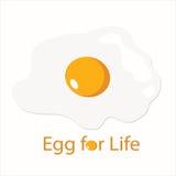 煎蛋商标和横幅 库存图片