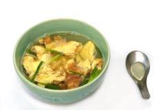 煎蛋汤 免版税库存图片