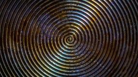 煎锅油腻底部的圆样式  免版税库存照片