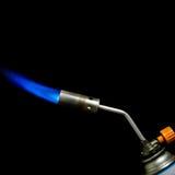 煤气喷燃器的火焰 免版税库存图片