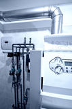 煤气炉中央装置 库存照片