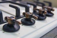 煤气炉控制板  免版税图库摄影