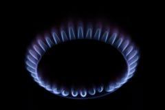 煤气炉火焰 免版税库存图片