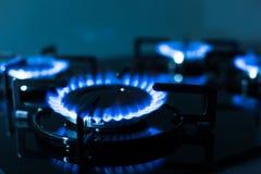 煤气炉火焰  库存图片
