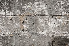 煤渣砌块墙壁纹理 免版税库存图片