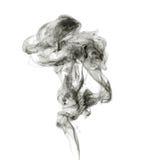 煤灰。黑烟。 免版税库存照片