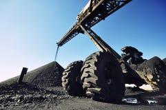 煤炭堆货机 免版税图库摄影