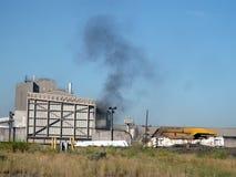 煤炭工业在大草原 库存图片