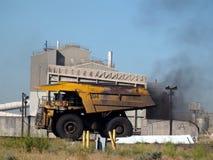 煤炭工业在大草原 免版税库存图片