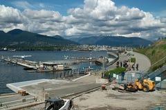 煤炭港口水上飞机机场, BC温哥华加拿大 免版税库存照片