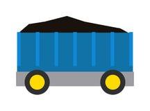 煤炭火车例证无盖货车  库存照片
