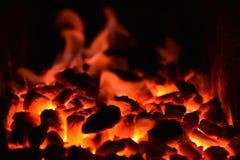 煤炭火 免版税库存照片