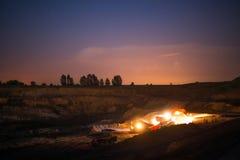 煤炭的生产在我的 免版税图库摄影