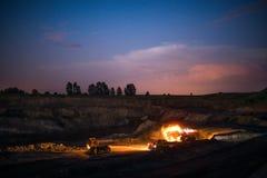 煤炭的生产在我的 免版税库存图片