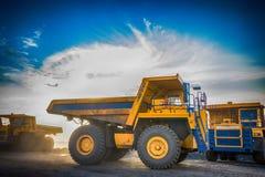煤炭的生产在我的 图库摄影