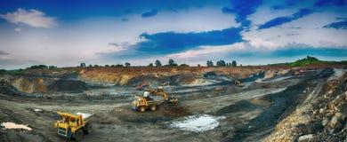 煤炭的生产在煤矿 免版税库存照片