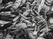 煤炭的纹理从火离开作为背景 图库摄影
