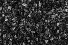 黑煤炭纹理或背景 免版税库存照片