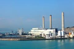 煤炭被射击的电力驻地 免版税图库摄影