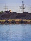 煤炭被射击的电植物 免版税库存照片