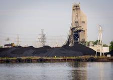 煤炭被射击的电植物 库存照片