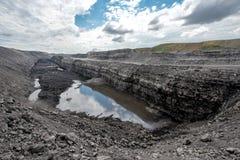 煤炭露天开采矿 库存照片