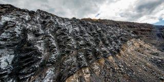 煤炭露天开采矿 免版税库存图片