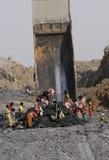 煤矿。 免版税库存照片