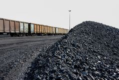 煤矿业和处理在南非 库存照片