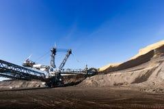 煤矿业的坑 免版税库存照片